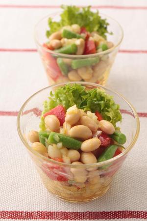 大豆と角切り野菜のマリネサラダ