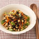 大豆とにんじんとひじきの和風サラダ