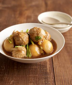 豚だんごとかぶの中華煮