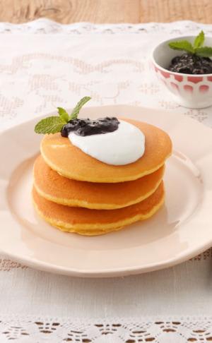 大豆粉とヨーグルトのパンケーキ