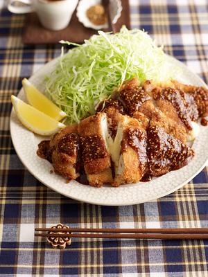 チーズ入り豚巻き豆腐カツ