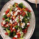 トマトドレッシングのグリーンホットサラダ