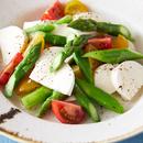 モッツァレラとアスパラのもちシャキサラダ