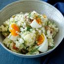 ハトムギとポテトのヨーグルトサラダ