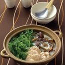 水菜とささ身の豆乳鍋仕立て