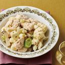 カリフラワーと鶏胸肉のクミンヨーグルト炒め