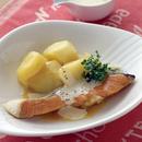 鮭とじゃがいもの洋風蒸し煮