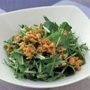 水菜のナッツドレッシング