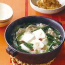 豆腐と豚肉のあつあつ鍋
