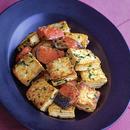 豆腐と鮭のガーリック炒め