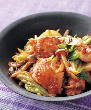 鶏肉の韓国風甘みそ炒め