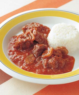 牛肉とマッシュルームのトマトシチュー