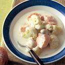 カリフラワーと鮭のクリーム煮