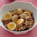 ゆで卵と豚肉のこってり煮
