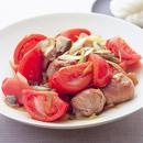 肉だんごとトマトのねぎザー菜炒め