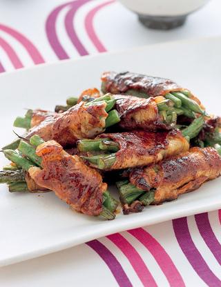 いんげんの豚肉巻き焼き