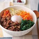 牛肉とカラフル野菜のビビンバ