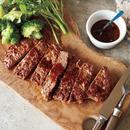 牛切り落とし肉のステーキ風 マスタードソースがけ