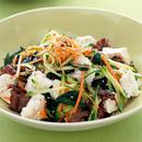 豆腐と牛肉の韓国風あえもの