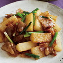 豚バラ肉と長いもの照りうま炒め