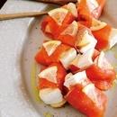 りんごとカマンベールのサーモン巻き