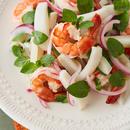 えびとれんこんのエスニック風サラダ