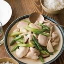 アスパラと鶏胸肉の中華風炒め煮