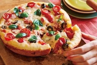 マルゲリータ風極厚ピザ