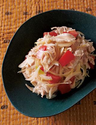 豚しゃぶとトマトのボリュームサラダ