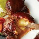 チーズインハンバーグ ドミグラ風ソース