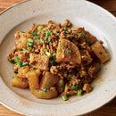 大根と豚ひき肉のカレー炒め煮