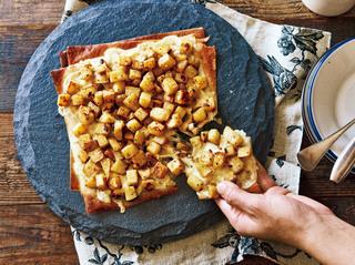アンチョビポテトのクリスピーピザ