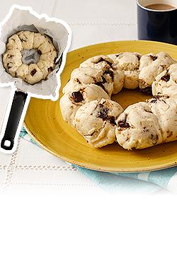 ホットケーキミックスで作る ちぎりスコーン、ちぎり蒸しパン