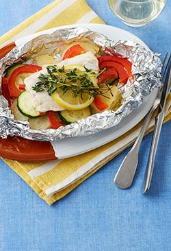 タイムを使って「めかじきと野菜のホイル包み焼き」